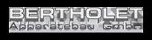 Willkommen bei der Bertholet Apparatebau GmBh Logo